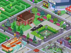 Gated Community Anyone? Springfield Simpsons, Springfield Tapped Out, Springfield House, The Simpsons Game, Mansion Designs, New Animal Crossing, Terraria, Gated Community, Clash Of Clans