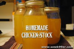 Have you ever considered making your own chicken stock at home? It's surprisingly easy to do and you can can and have it on hand to use in your recipes. Canning Tips, Home Canning, Canning Recipes, Homemade Chicken Stock, Homemade Sauce, Canning Food Preservation, Preserving Food, Canned Food Storage, Pressure Canning