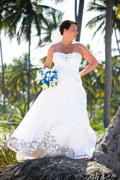 Hand Painted Silk Dupioni Strapless Wedding Gown by angelicvision, $2999.99