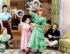 Colourised vintage photo