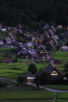 Shirakawa-go Village, Gifu, Japan 白川郷