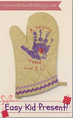 helping hands oven mitts. Kids crafts