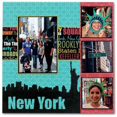 NYC scrapbook page layout: Great lay out for vacation