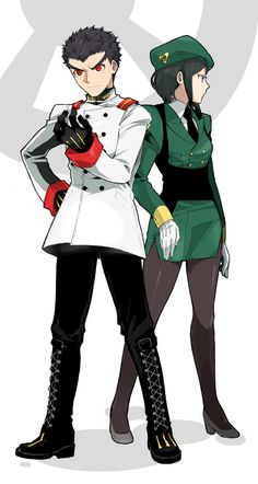 Dangan Ronpa - Kiyotaka Ishimaru and Mukuro Ikusaba