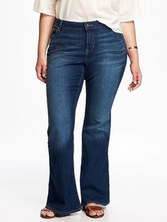 f3a7c7cf081 High-Rise Eco-Friendly Plus-Size Vintage Flare Jeans Women s Plus Size Jeans