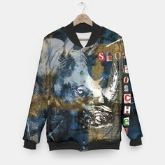 One of it's kind, unique full print baseball jacket. Wear exceptional baseball jacket with your own graphic project and stand out fromthe crowd! Choose form marihuana, emoji, skulls, galaxy or any other custom design.Stylish and comfy - no matter how often you wash it, the print won't fade away and won't loose its shape.All items can be returned within 14 days unless used. No questions asked.Estimated shipping time - 14 working days.
