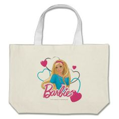 Barbie Hearts Canvas Bags