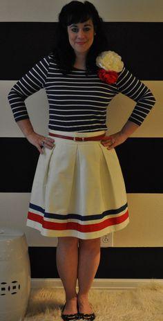 Cream Embellished Hartley skirt from etsy.com