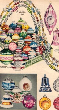 Glass Christmas Ornaments from the 1956 Sears Christmas Catalog