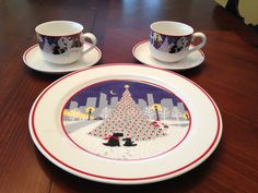 My Scottish Terrier Christmas dishes