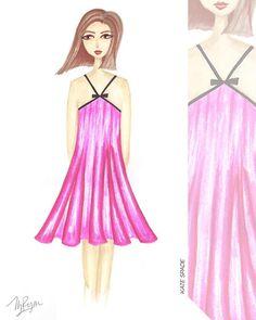 Pretty in Pink #fashionillustration #sketch #drawing