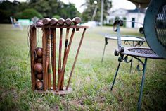 Croquet on the lawn...