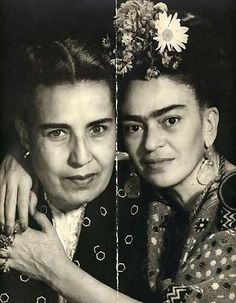 Frida Kahlo poses with Guadalupe Marin, onetime wife of Diego Rivera. S)