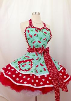 Polka Dot Background, Red Background, Retro Apron, Aprons Vintage, Polka Dot Fabric, Polka Dot Print, Polka Dots, Pin Up, Cute Aprons