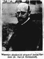 Korczak photograph from newspaper