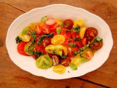bright tomato salad @ my tiny green kitchen