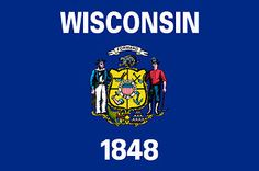 Depicted above is the state flag of Wisconsin. The flag of the state of Wisconsin is a symbol of the authority and sovereignty of the state and is a valuable asset of its people. The Wisconsin flag is flown over all state buildings just below the country flag of the United States of America.