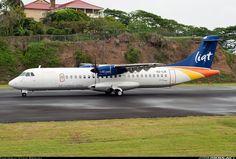ATR ATR-72-600, LIAT, V2-LIA, cn 1077. Castries, St. Lucia, 24.4.2015. Atr 72