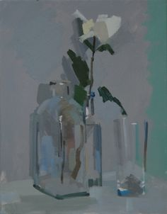 White Flower and Clear Glassware by Philip Richardson
