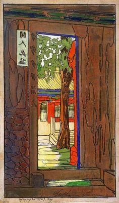 Woodblock prints (Estampes) :: Garden Door