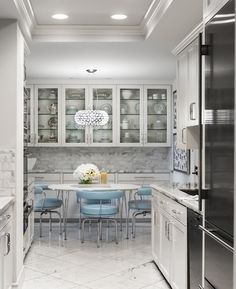 Blue and White Kitchen By Janet Rice Interiors