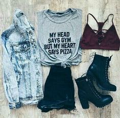 Girls Fashion Clothes, Teen Fashion Outfits, Cute Fashion, Girl Outfits, Cute Lazy Outfits, Girls Summer Outfits, Outfits For Teens, Grunge Outfits, Edgy Outfits