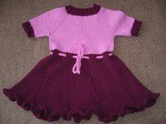 Kız Bebeklere Örgü Elbise Modelleri 178