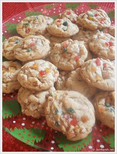 Chewy Fruitcake Cookies at www.JamHands.net