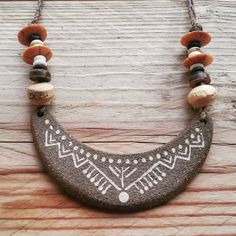 Ethnic Jewelry Tribal Necklace Boho Necklace Rustic Necklace Ceramic Necklace Clay Jewelry Special Gift Handcrafted Necklace Tribal Clay Necklace Ethnic Tribal Boho Tribal Handcrafted Boho wearable art ✽ ✽ ✽ ✽ ✽ ✽ ✽ ✽ ✽ ✽ ✽ ✽ ✽ ✽ ✽ ✽ ✽ ✽ ✽ ✽ ✽ ✽ ✽ ✽ ✽ ✽ ✽ ✽ ✽ ✽ ✽ ✽ ✽ ✽ ✽ ✽ ✽ ✽ ✽ This Unique Necklace is Handcrafted in my little home studio, in a peaceful, Nature surrounded village. if you like Tribal, Rustic, Boho kind of jewelry, thats just the necklace for you...! The pendant is made out…