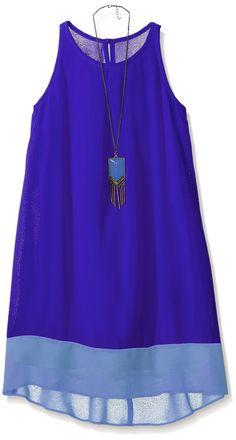 Amazon.com: Amy Byer Girls' Sleeveless Colorblock Trapeze Dress: Clothing