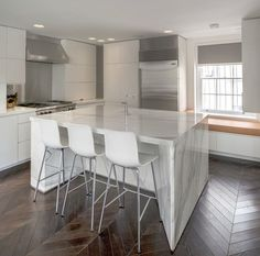 Marble Kitchen | Interior Design of Private House Tarrant Place, London UK by Bart Eyking