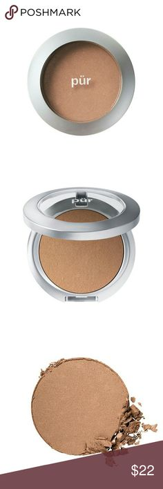 Pür bronzer powder Mineral Glow?s micronized mineral powder has rich, golden undertones to add a sun-kissed contour to your complexion. A staple for P?R aficionados, use it as a quick fix bronzer for an all-year healthy glow. Pur Minerals Makeup Bronzer