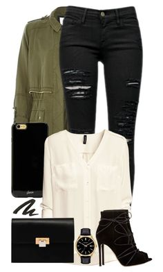 """#13"" by oneandonlyfashion ❤ liked on Polyvore featuring River Island, Frame Denim, Sonix, H&M, Balenciaga, Caravelle by Bulova, Gianvito Rossi and Urban Decay"