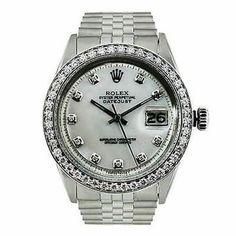 Rolex | Rolex Datejust - Diamond Bezel - Ss Stainless Steel - Jubilee - Mop Date Watch