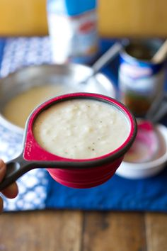 Homemade cream of chicken condensed soup. No more of that jiggly, mysterious, canned stuff!