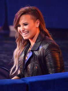 Demi Lovato: Half Shaved Ombre in April 2014