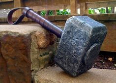fun use for leftover wood pieces...and a broken broom stick or rake handle!