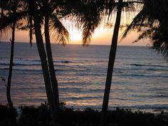 Sunset over Waialua Beach - The North Shore