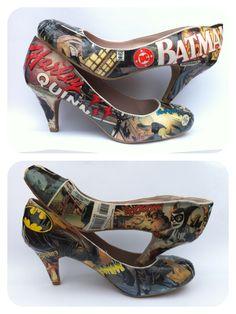 Batman/Harley Quinn comic book shoes