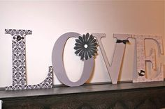 Love Wood Letters wall hanging letters