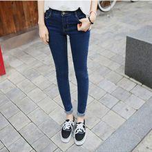 Outono mulheres de cintura alta Jeans Skinny Plus Size calças de Jeans fino calças femininas frete grátis, Jj1039(China (Mainland))