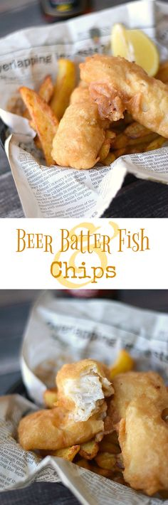 This traditional-style Beer Batter Fish is served along side Homemade French Fries for the perfect comfort food meal | cookingwithcurls.com