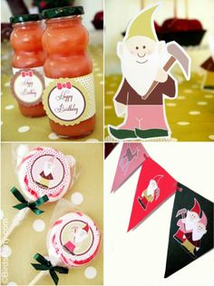 Party Printables | Party Ideas | Party Planning | Party Crafts | Party Recipes | BLOG Bird's Party: Styled Shoot: Vintage Snow White Inspire...