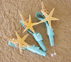 seashell boutonniere   Small REAL Seashell and Starfish ...