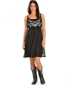 R Cinco Ranch Bridgette Black Embroidered Dress Cowboy Boots, Summer Dresses,  Cinco Ranch, 914cef173a1