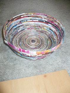Step-by-step Instructable: How to Make a Magazine Bowl and Coasters