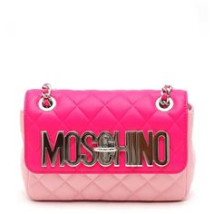 MOSCHINO Mini crossbody bag with lettering ($885) ❤ liked on Polyvore featuring bags, handbags, shoulder bags, white shoulder bag, leather cross body handbags, white leather handbags, leather purses and mini crossbody purse
