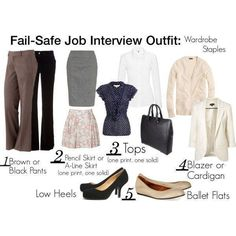 infographic : infographic : infographic : infographic : Fail-Safe Job Interview Outfits: What
