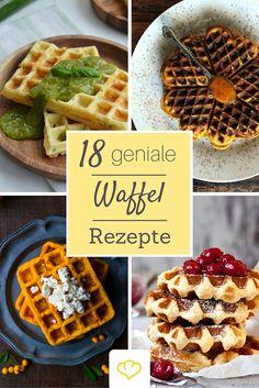 Ob herzhaft oder süß - hier kommen 18 geniale Waffel-Rezepte frisch aus den Küchen deutscher Food-Blogger!