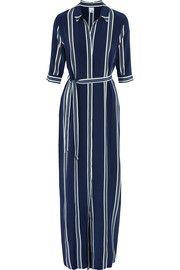 Iris and InkAdie striped silk crepe de chine maxi dress